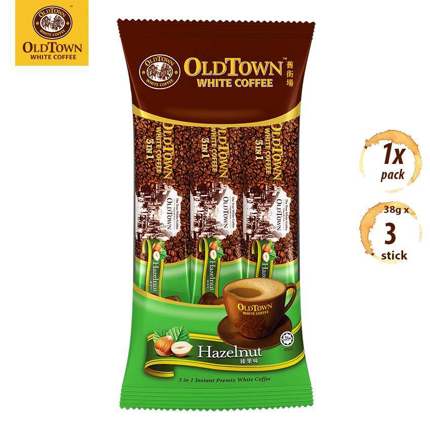 OLDTOWN White Coffee 3-in-1 Hazelnut Instant Premix White Coffee Convenient Pack (3'S X 1 Pack)