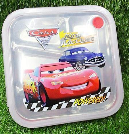 Cartoon Stainless Steel Lunch Box (BGJAYA)-Cars