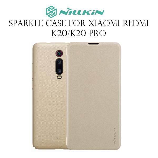 Nillkin Leather Case Sparkle Series Super Thin Flip Cover for Xiaomi Redmi K20/K20 Pro (Grey/Gold)