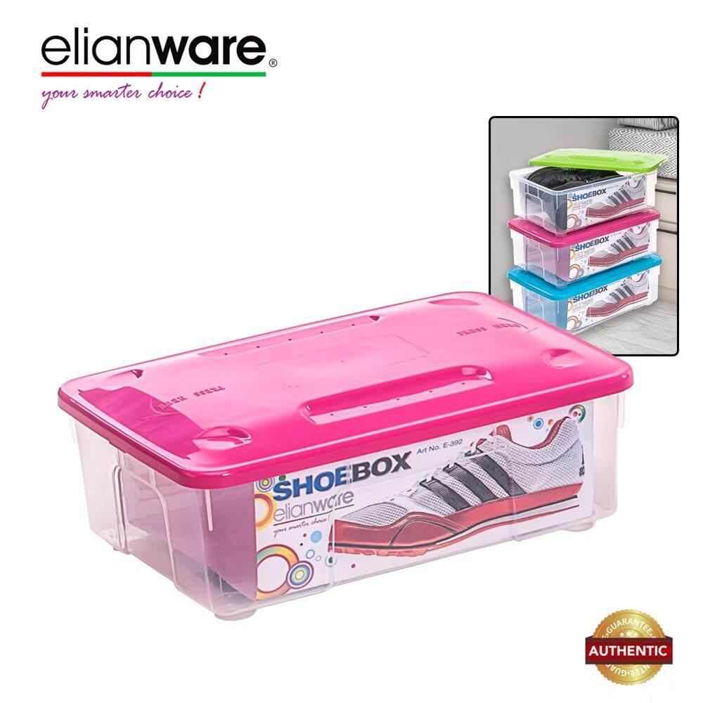 Elianware Stackable Transparent Plastic Shoes (L) Storage Box