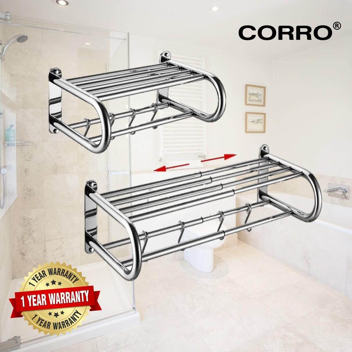 CORRO High Quality Extendable Towel Shelf