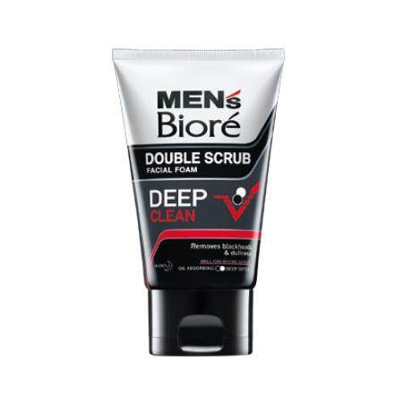 Biore Men Double Scrub Facial Foam Deep Clean 50g