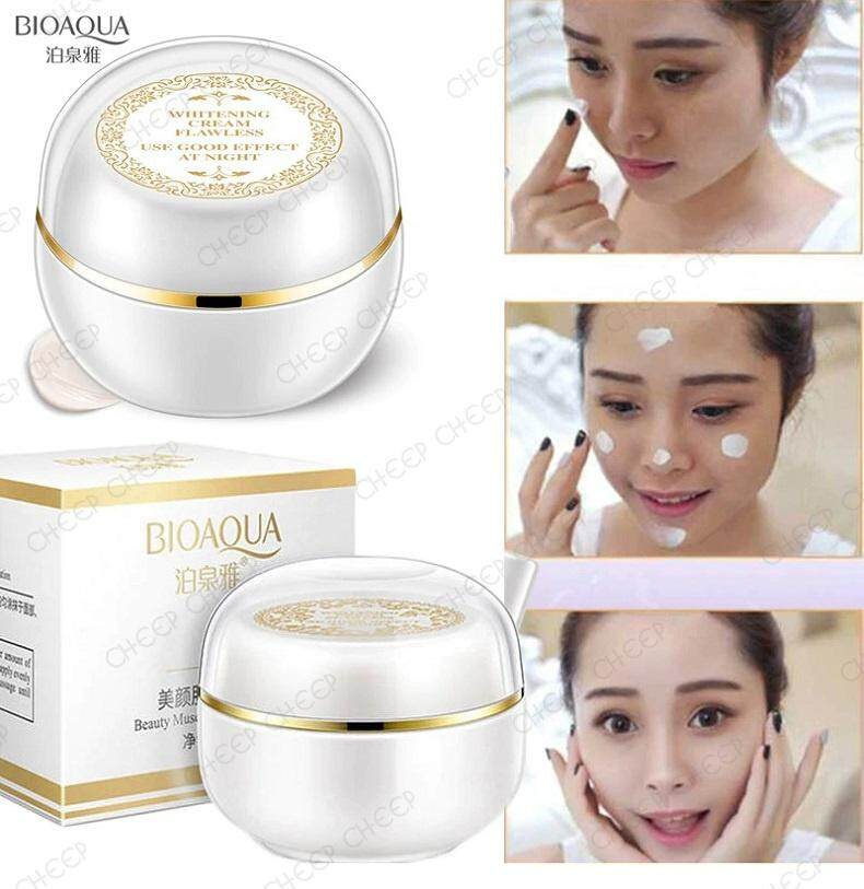 Bioaqua Whitening Cream Moisturizing Lady Cream Flawless Makeup Base Primer Freckle Remover Concealer 30g
