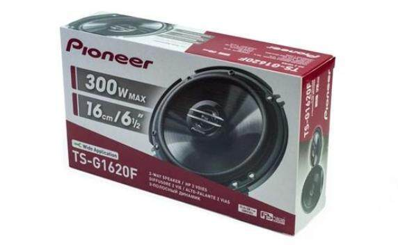 "PIONEER TS-G1620F 6.5""; 2 WAY COAXIAL CAR SPEAKERS MAX 300W RMS 40W AT 4 OHM - ORIGINAL"