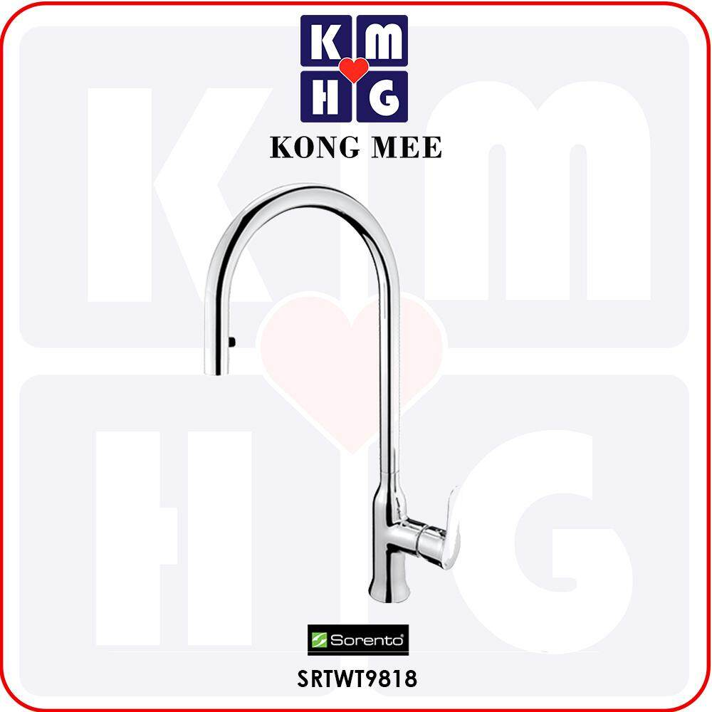 Sorento Italy - Camella 9800 Series Kitchen Mixer With Pull Out Shower (Hot And Cold Sink Faucet) (SRTWT9818) Basin Tap Pillar Mounted Stretch Out Spring Kitchen Counter Restaurant Home Wash Dishes Faucet Clean Pipe Food Cook Premium Luxury High Quality