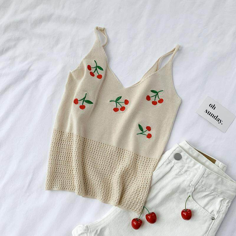 ?PRE-ORDER 21 DAYS? Ins short openwork embroidery sweater top