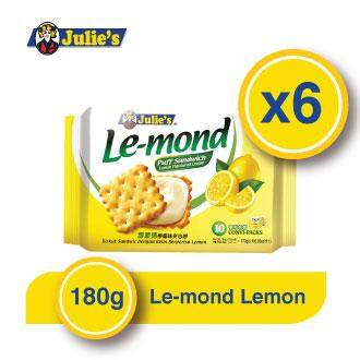 Julie's Le-mond Lemon Sandwich Biscuit x 6 pack 170g