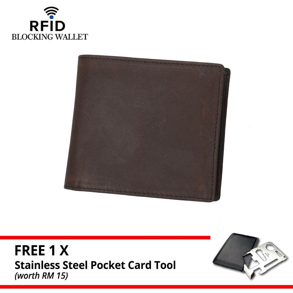 MV Bag Genuine DKER Cowhide Leather Men RFID Blocking Wallet Purse 369 MI3691