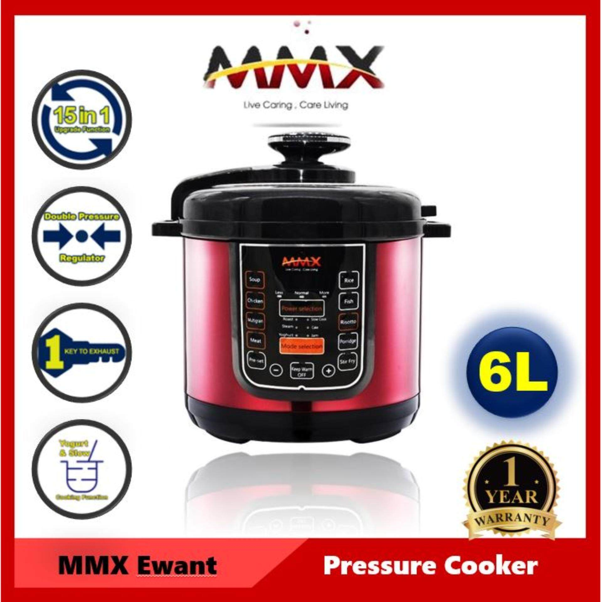 MMX Smart Electric Pressure Cooker 6L (15-in-1 Multi-Functional with Malaysia Plug)