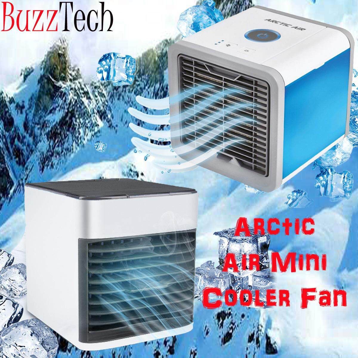 BuzzTech USB Mini Portable Air Conditioner Humidifier Purifier Desktop Arctic Air Cooler Fan for Office Home