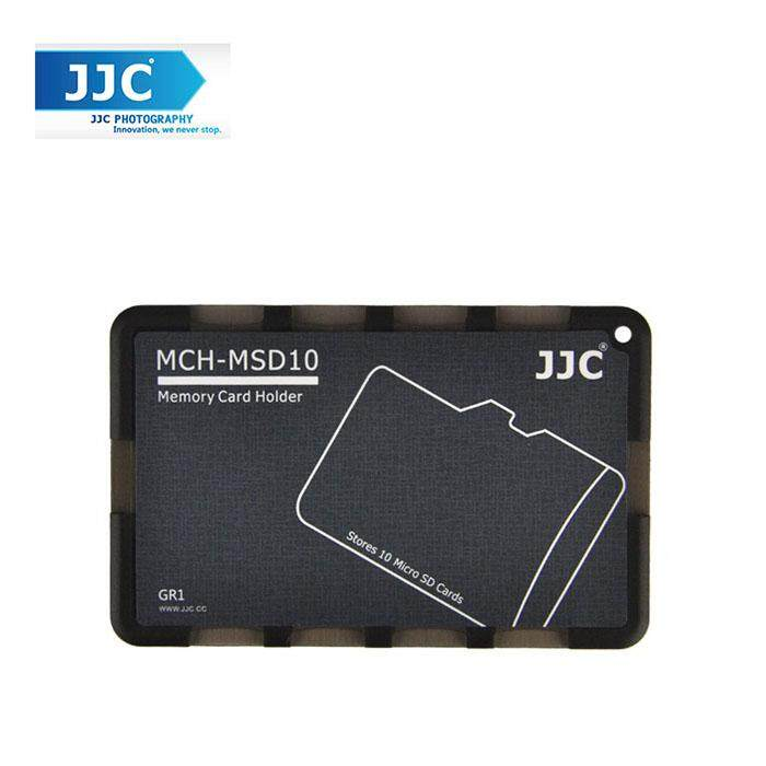 JJC MCH-MSD10GR Pocket Memory Card Holders fits 10pcs Micro SD Memory Card