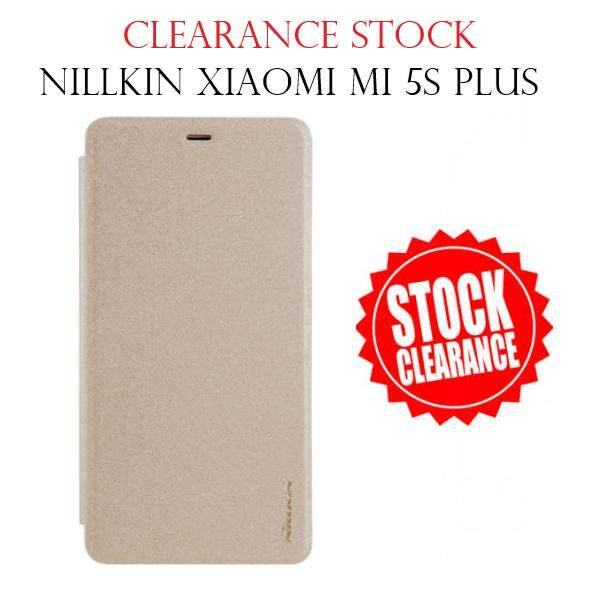 [CLEARANCE STOCK]  Nillkin Leather Case Sparkle Series Super Thin Flip Cover for Xiaomi MI 5S PLUS (Grey/Gold)