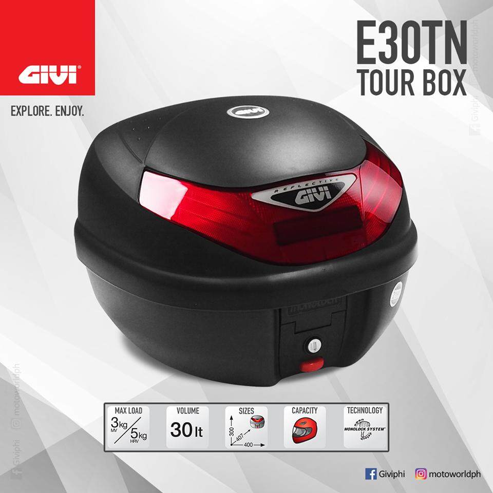 Original GIVI E30TN 30 Litre Monolock Topcase Black Box