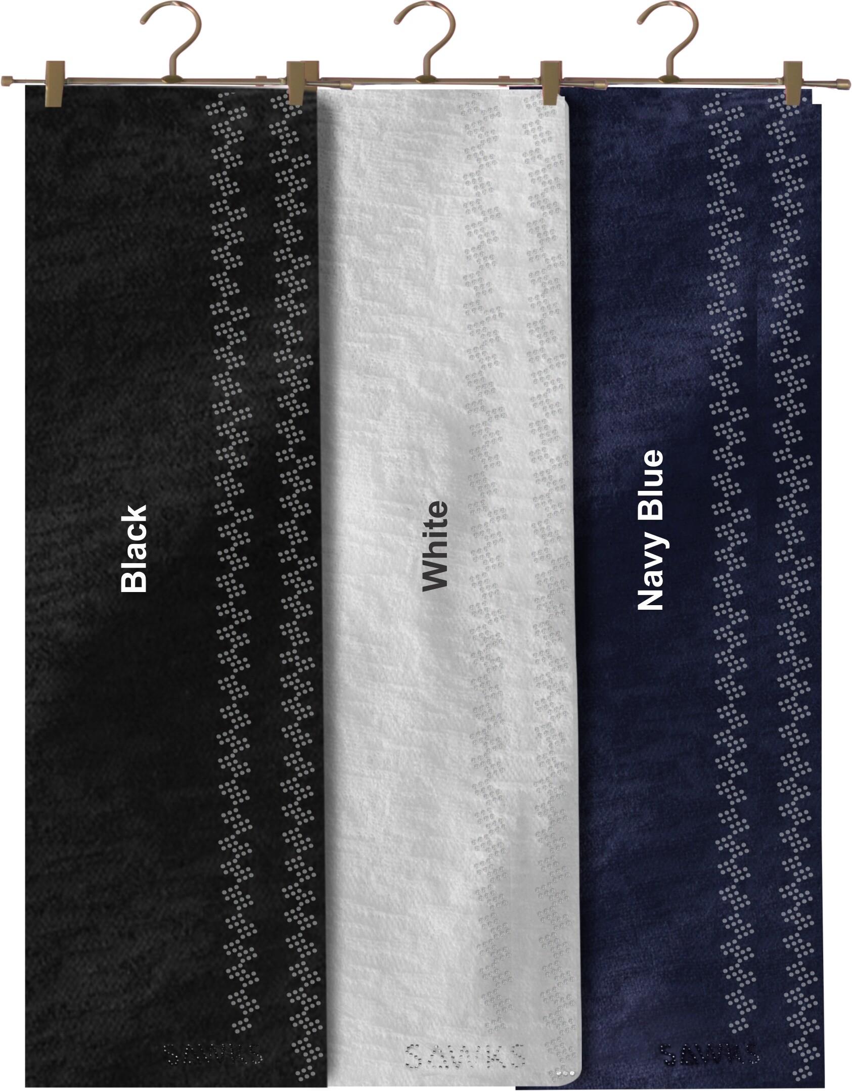Sawks Hijab Long Shawl - ZigZag Rhinestones Design