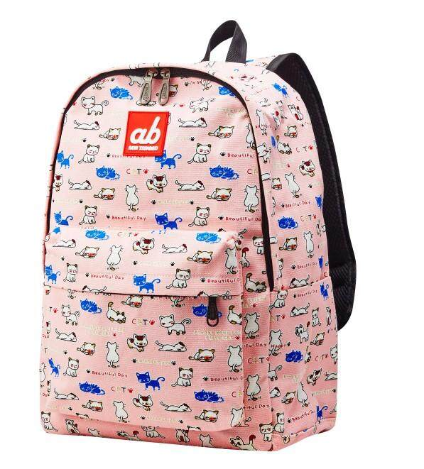 ab New Zealand Extra Space Kids School Canvas Backpack (Kitty)