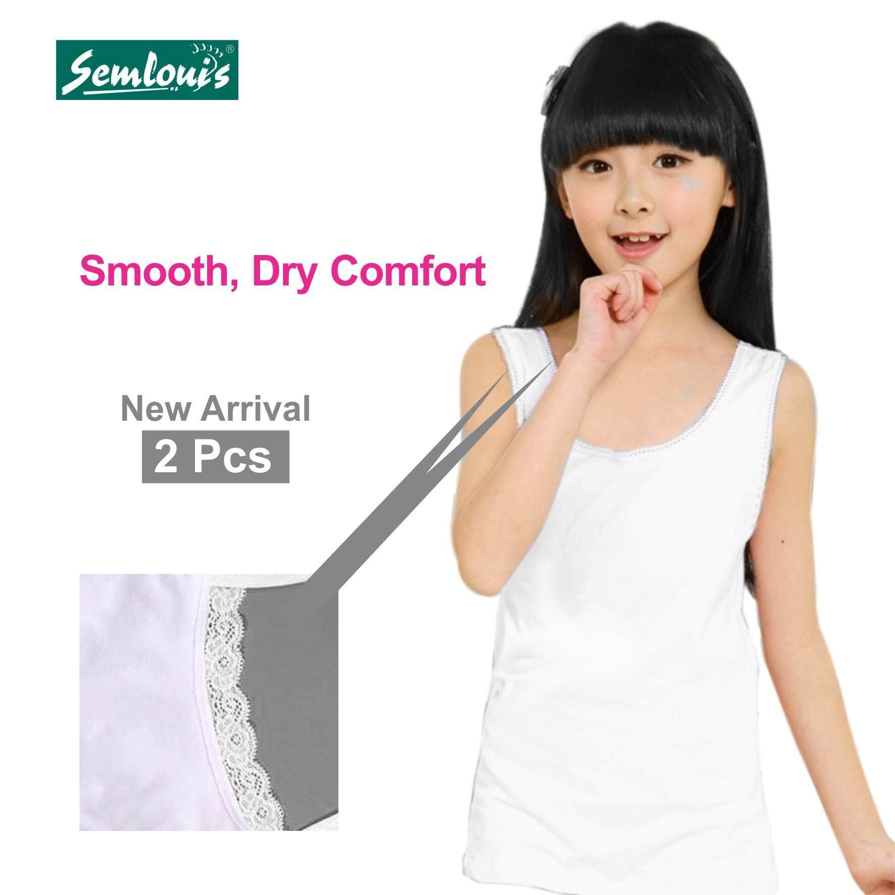 Semlouis Kid's Girl 2 in 1 Singlet & Camisole - Wide Strap Camisole
