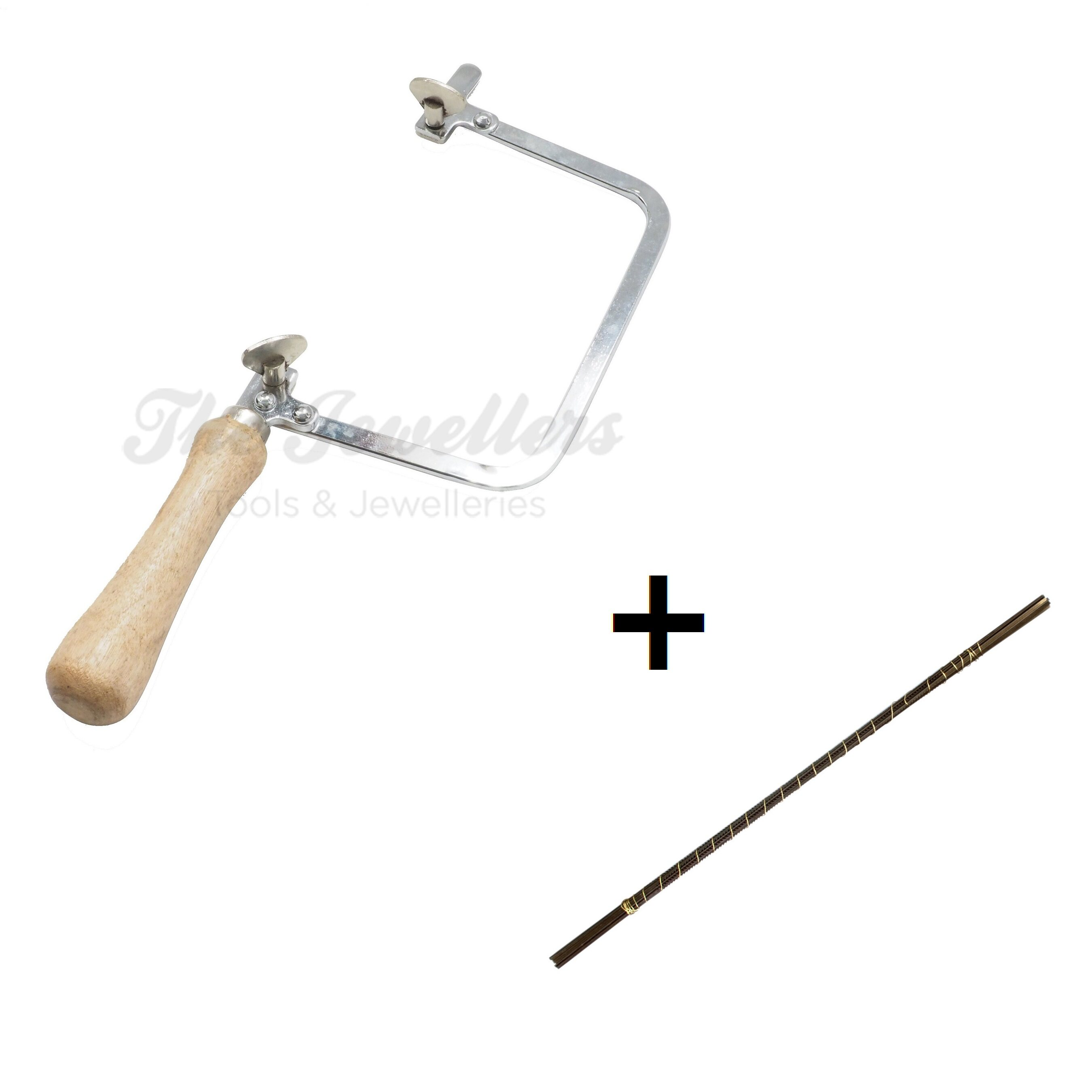 Saw Frame with Wooden Handle for Jewelry Making, Metal, Wood, Plastic Cutting