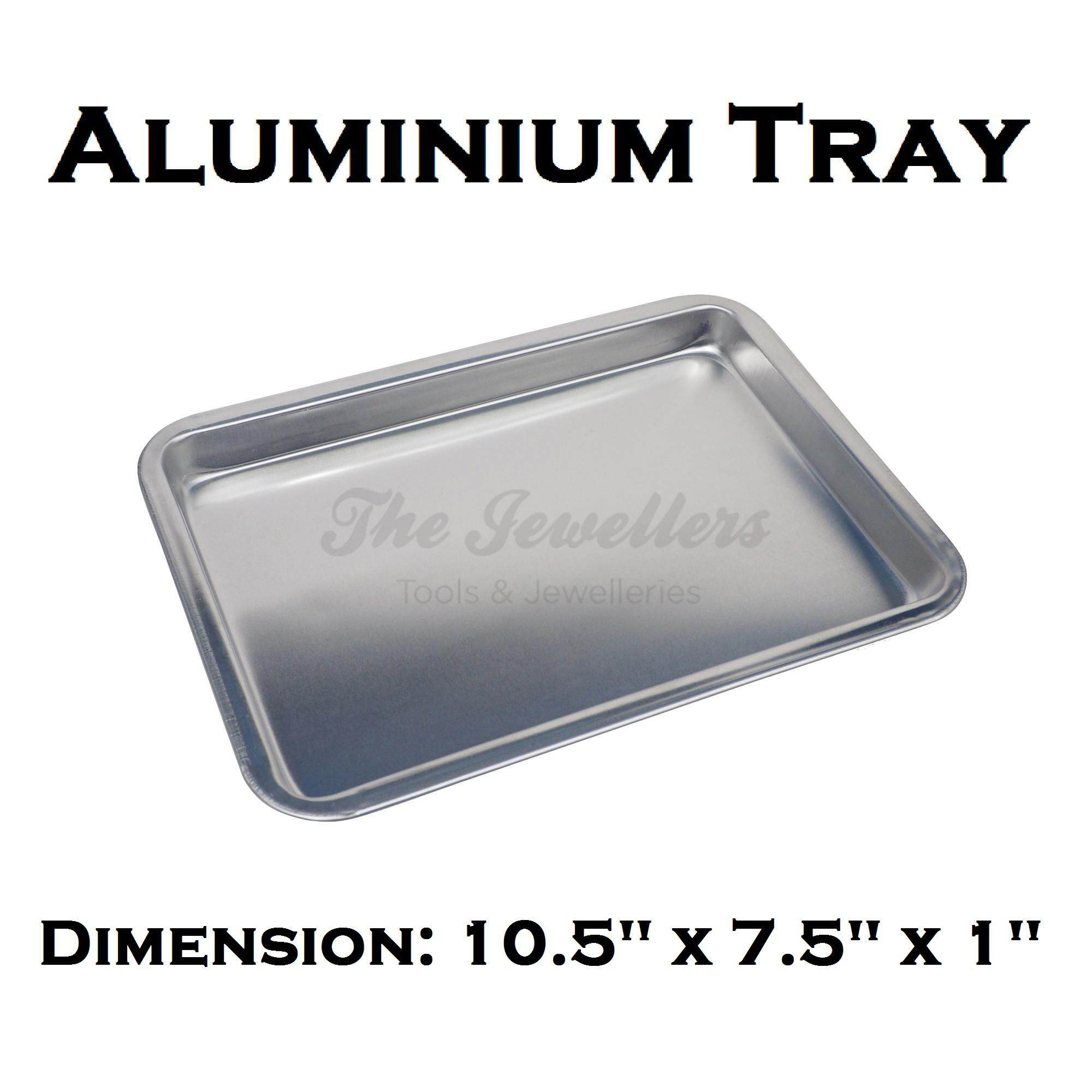 Aluminium Tray Bakeware Oven Sheet, Baking Pan Tray for Cookies, Pizza, and Cakes Dimension: 10.5