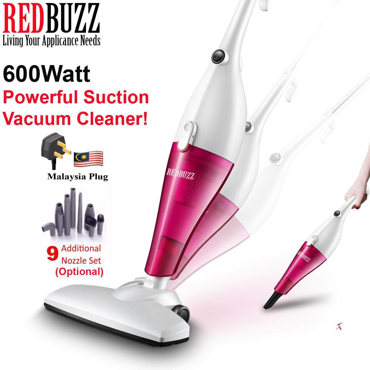 REDBUZZ 2 In 1 AUX Design 600W Vacuum Cleaner Portable Handheld Vacumn Cleaner