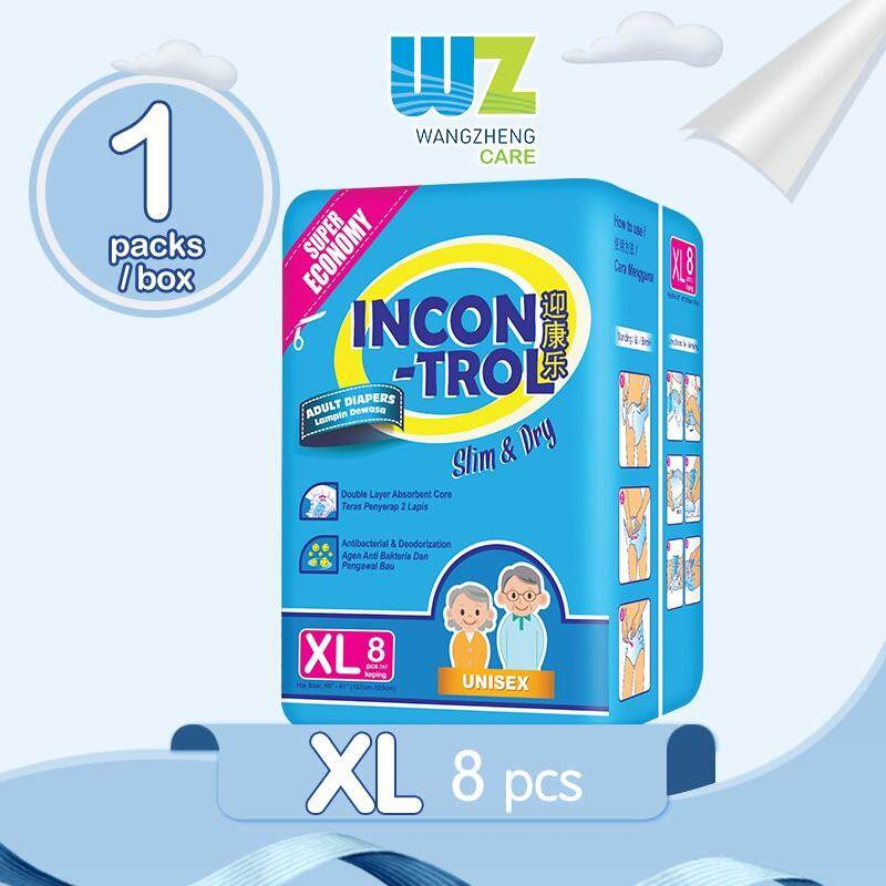 Incontrol Adult Tape Diapers XL8 x 1 Pack [WangZheng CARE]