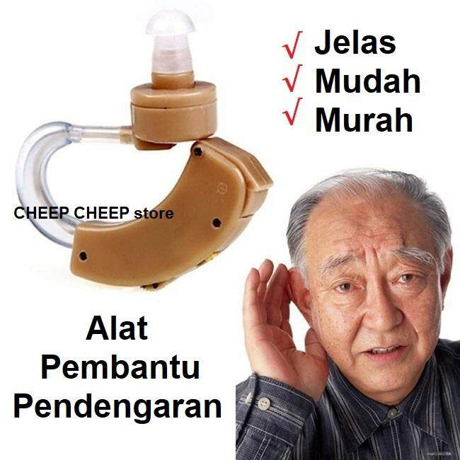Cyber Sonic Hearing Aid Behind the Ear Adjustable Tone Sound Amplifier With Carrying Case Alat Pembantu Pendengaran