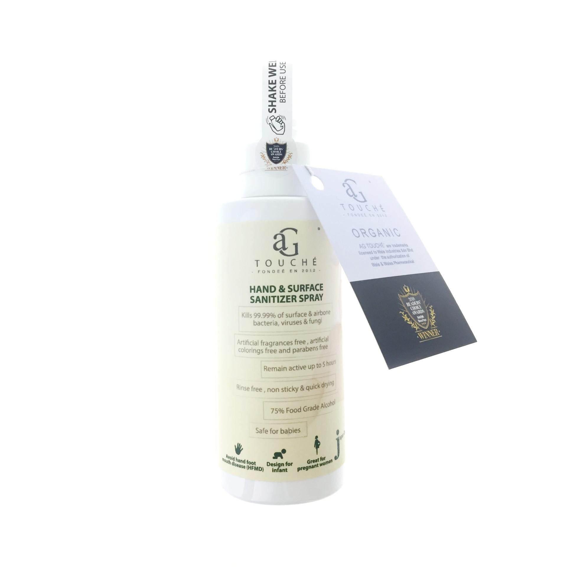 AG Touché Hand & Surface Sanitizer Spray 120ml (1 bottle)