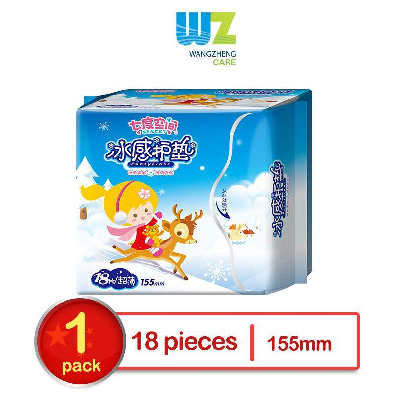 Space7 Pure Cotton 155mm Cooling Pantyliner 18pcs  x 1 Pack (WangZheng Care)
