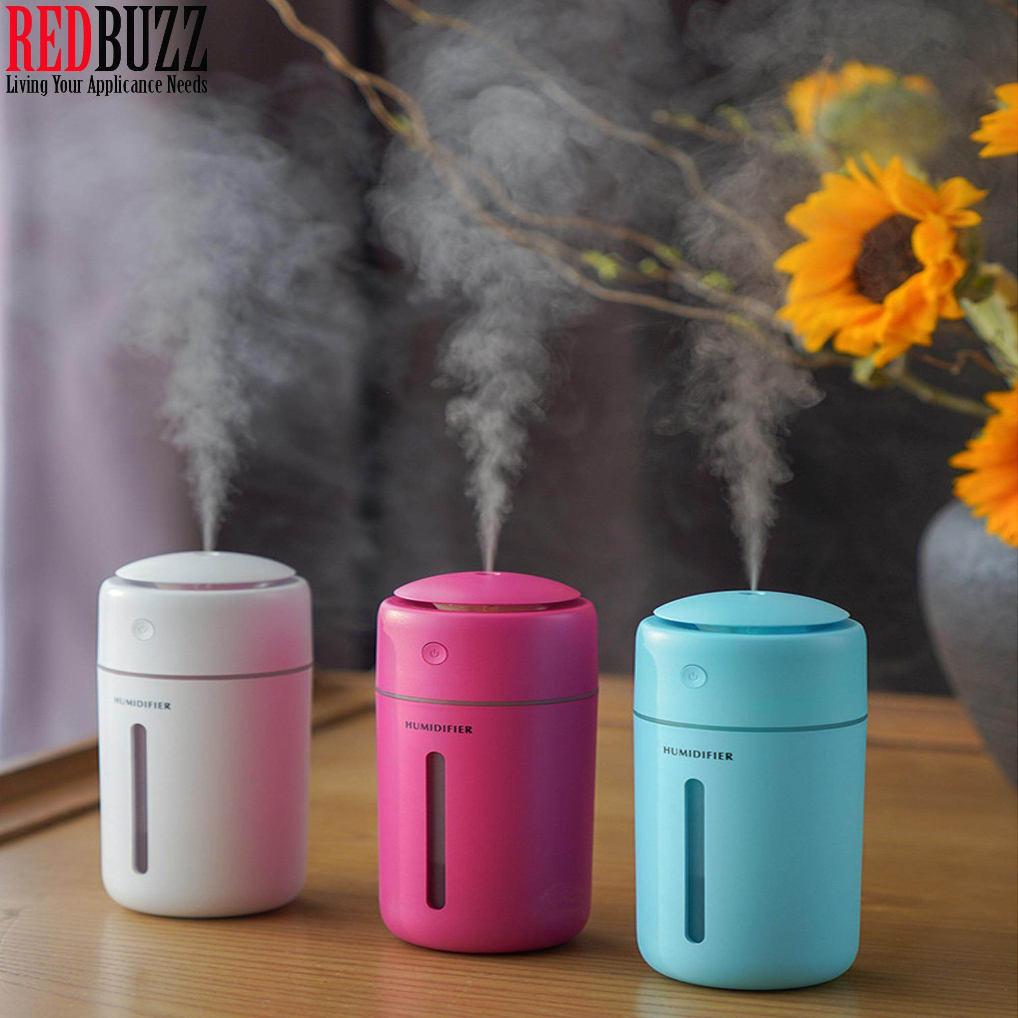 REDBUZZ 350ML Color Cup Ultrasonic Home Aroma Air Humidifier Diffuser Purifier Atomizer Aromatherapy Car Humidifier