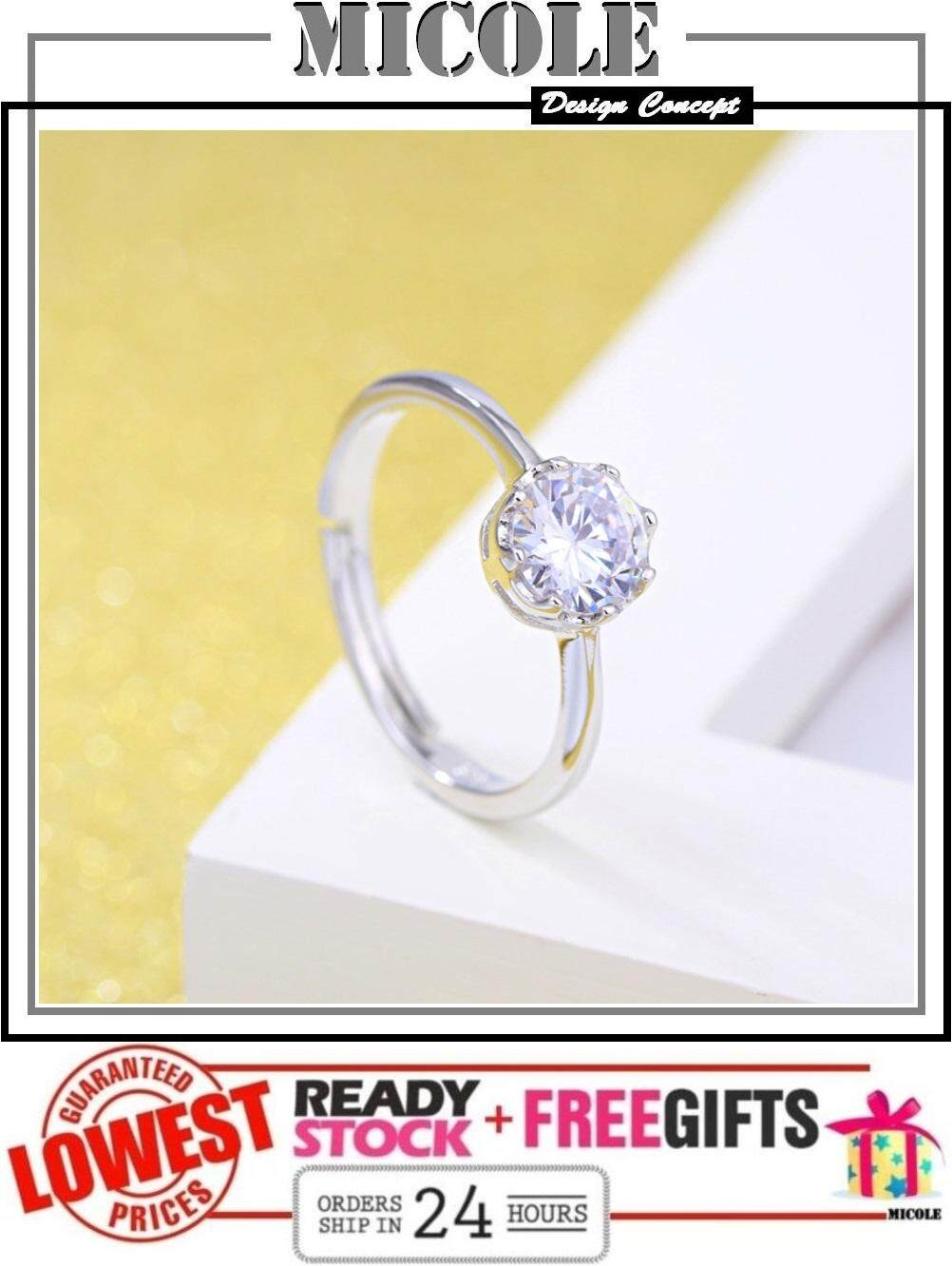 MICOLE RF3005 White Gold Plated Adjustable Ring Cincin
