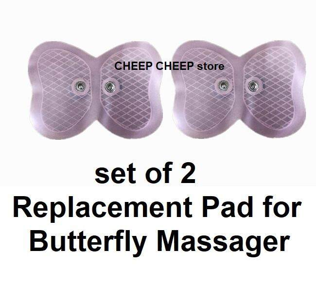 2 REFILL REPLACEMENT for EMS Butterfly Massager for Slimming Firming Shaping & Cellulite – Fitness Muscle Toning & Relaxing Stiff Neck Backache
