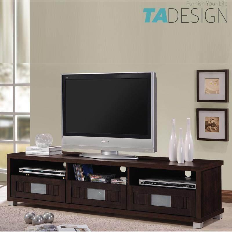 TAD HUDA 160CM TV CABINET 6FT WITH GLASS DOOR – WENGE