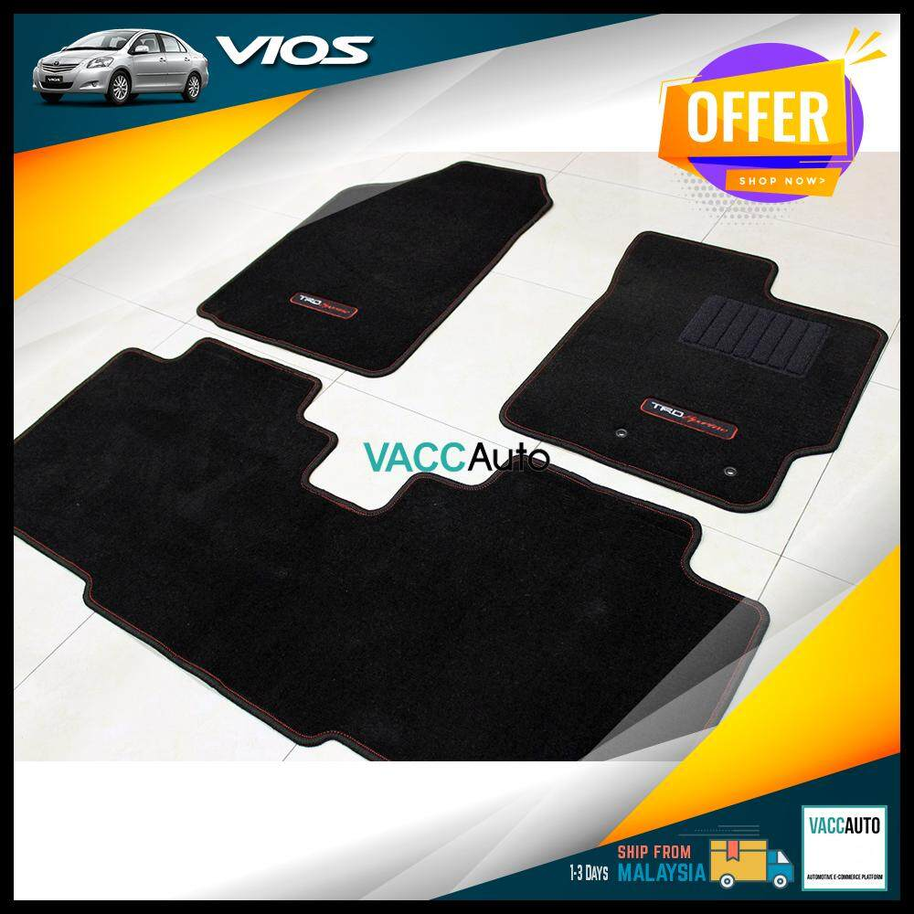 [Original] Toyota Vios 2007 - 2012 TRD Sportivo Floor Carpet Vacc Auto Car Accessories Interior Consoles Protection Floor Mats