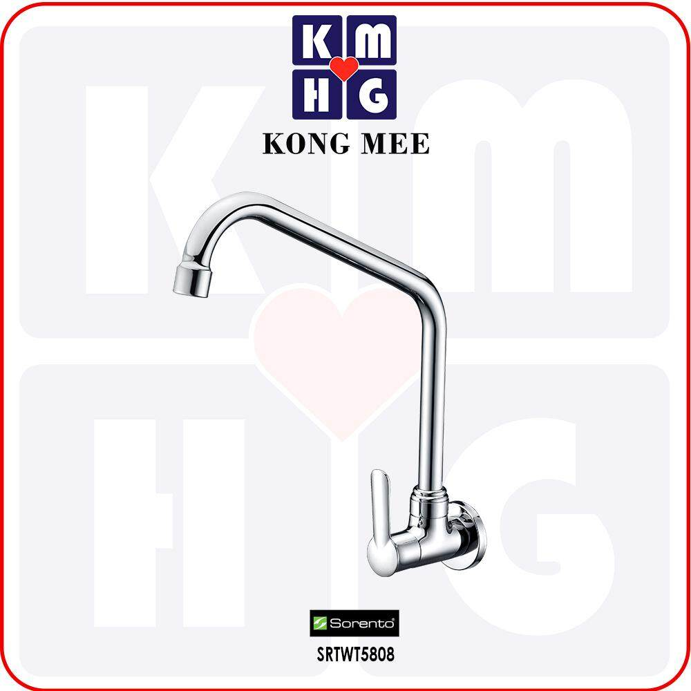 Sorento Italy - Wave 5800 Series Wall Mounted Sink Tap (Stick To Wall Basin Faucet) (SRTWT5808) Kitchen Top Counter Restaurant Home Wash Dishes Water Soap Faucet Clean Pipe Food Cook Premium Modern Luxury High Quality Long Lasting
