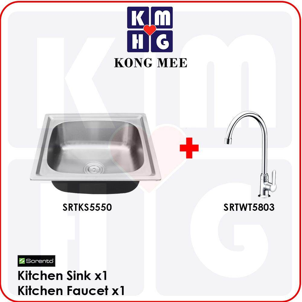 Sorento Italy - High Quality G304(18-8) Stainless Steel Kitchen Sink With Tap