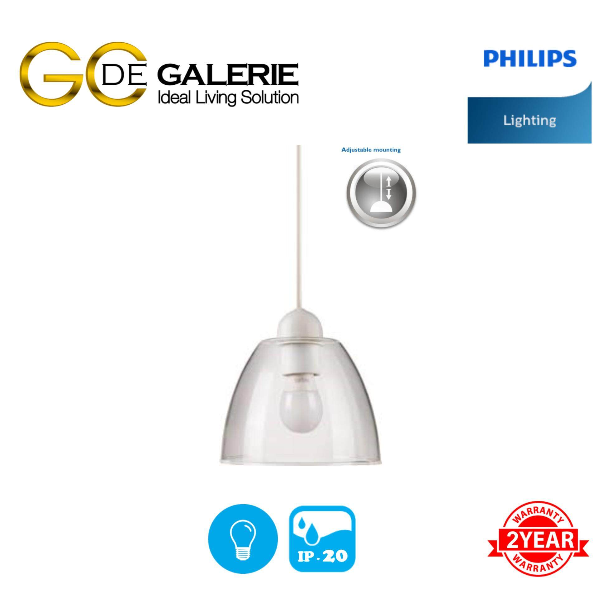 PENDANT LIGHT PHILIPS 40871 YORK CLEAR 1X24W