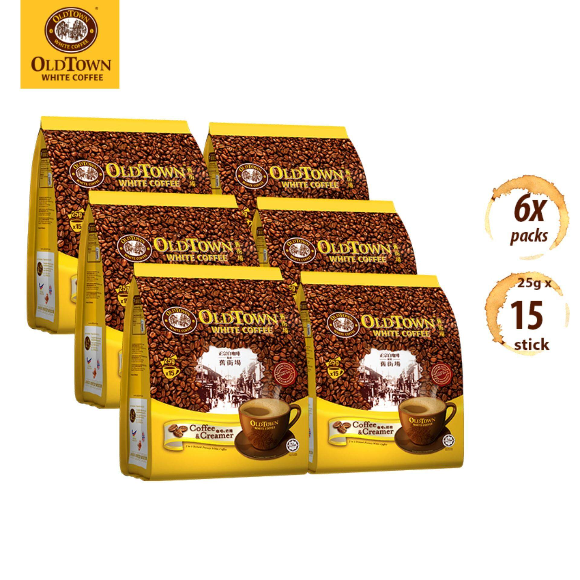 OLDTOWN White Coffee 2-in-1 Coffee & Creamer Instant Premix White Coffee (15S X 6 Packs)