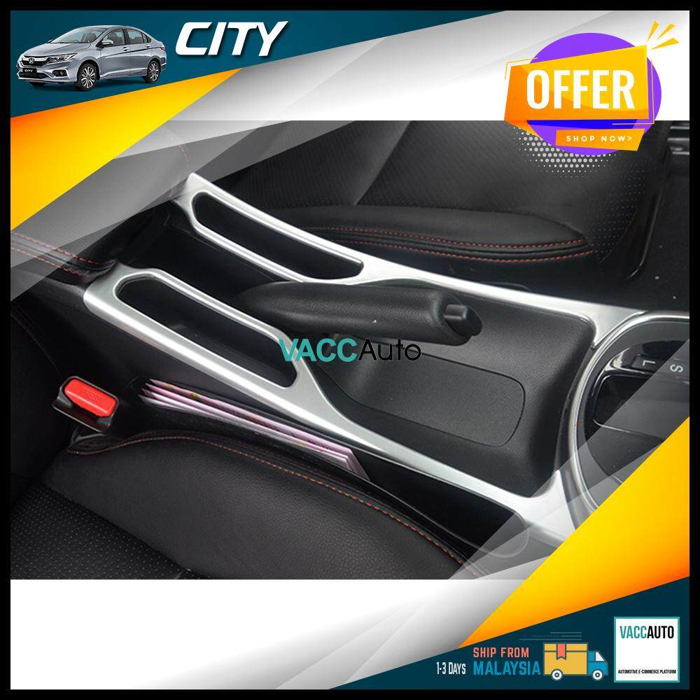 Honda City 2014-2019 Center Console Lining Silver/Carbon Design