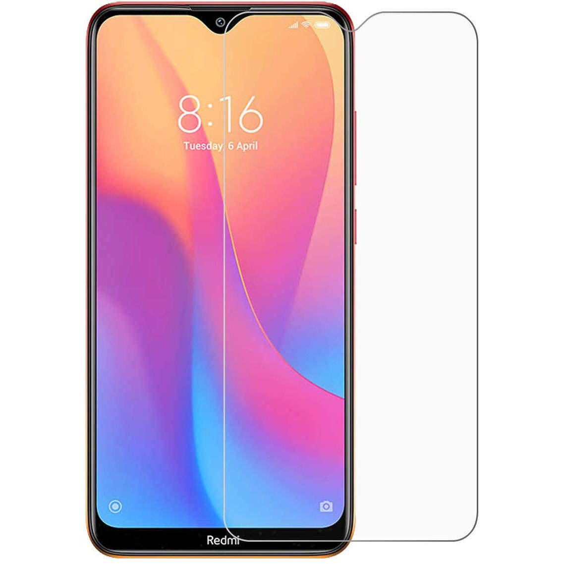 Tempered Glass for Xiaomi Redmi 8 - 2.5D Curve Screen Protector [Clear - Transparent]