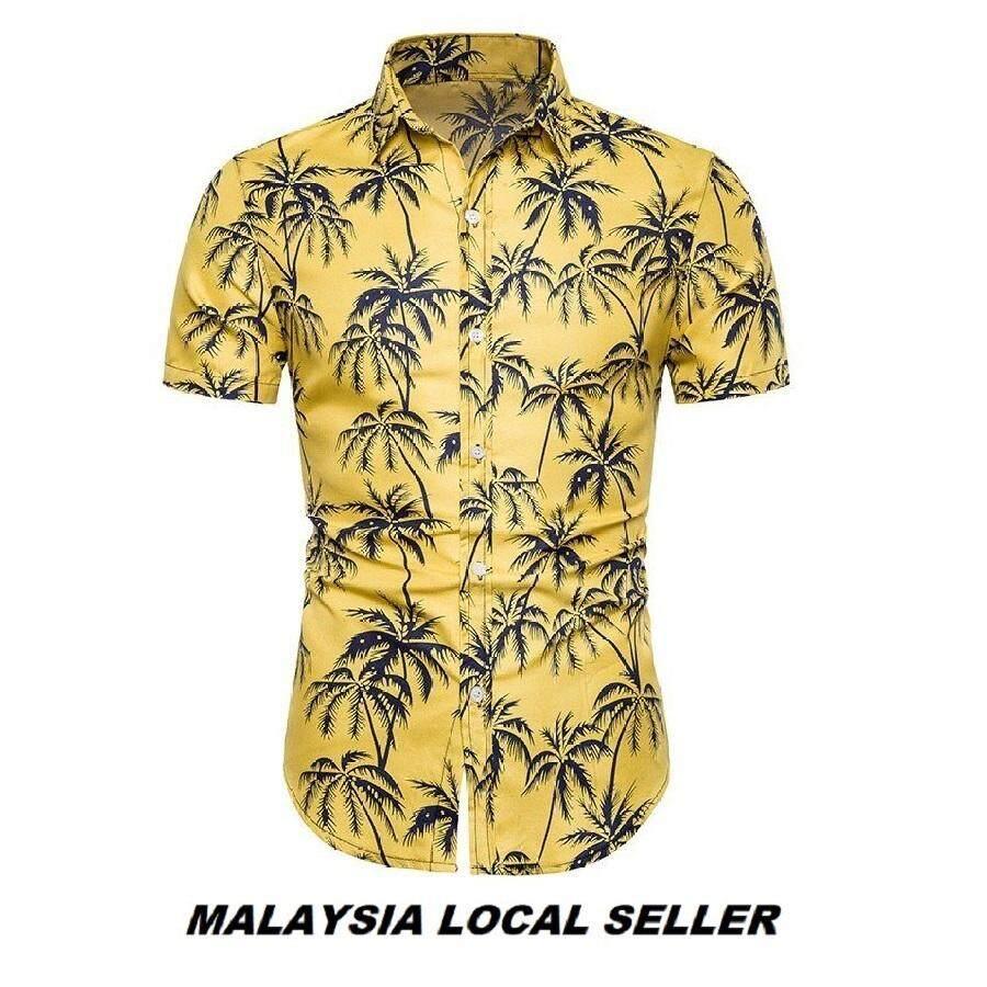 Kemeja Batik Lelaki Kemeja Bunga Shirt Batik Code-37