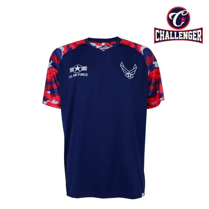 CHALLENGER BIG SIZE V-Neck Airforce T-shirt CH1021 (Navy)