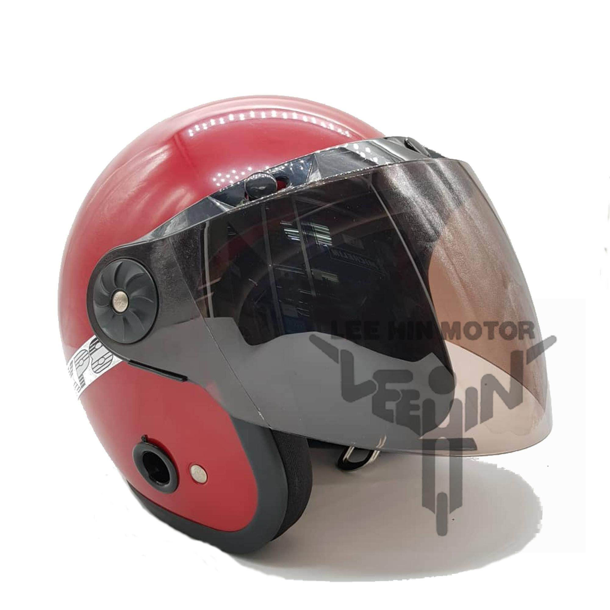 Motorcycle MS88 , SGV 3 Button Half Visor ( Tinted ), Visor