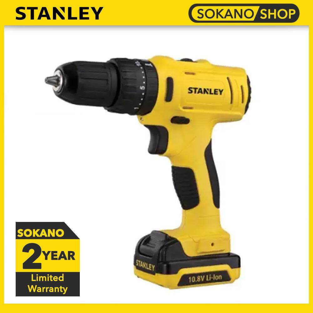 STANLEY SCH12S2 10mm Hammer Drill Driver With 2pcs Batteries & 1pc Charger 10.8V Cordless Li-ion