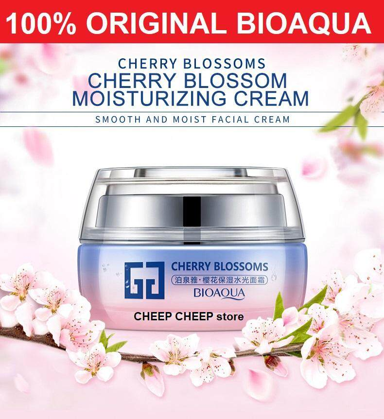 BIOAQUA Cherry Blossoms Anti-Wrinkle Hyaluronic Acid Face Cream Anti-Aging Whitening Moisturizing Beauty Skin Care Facial Cream 50g