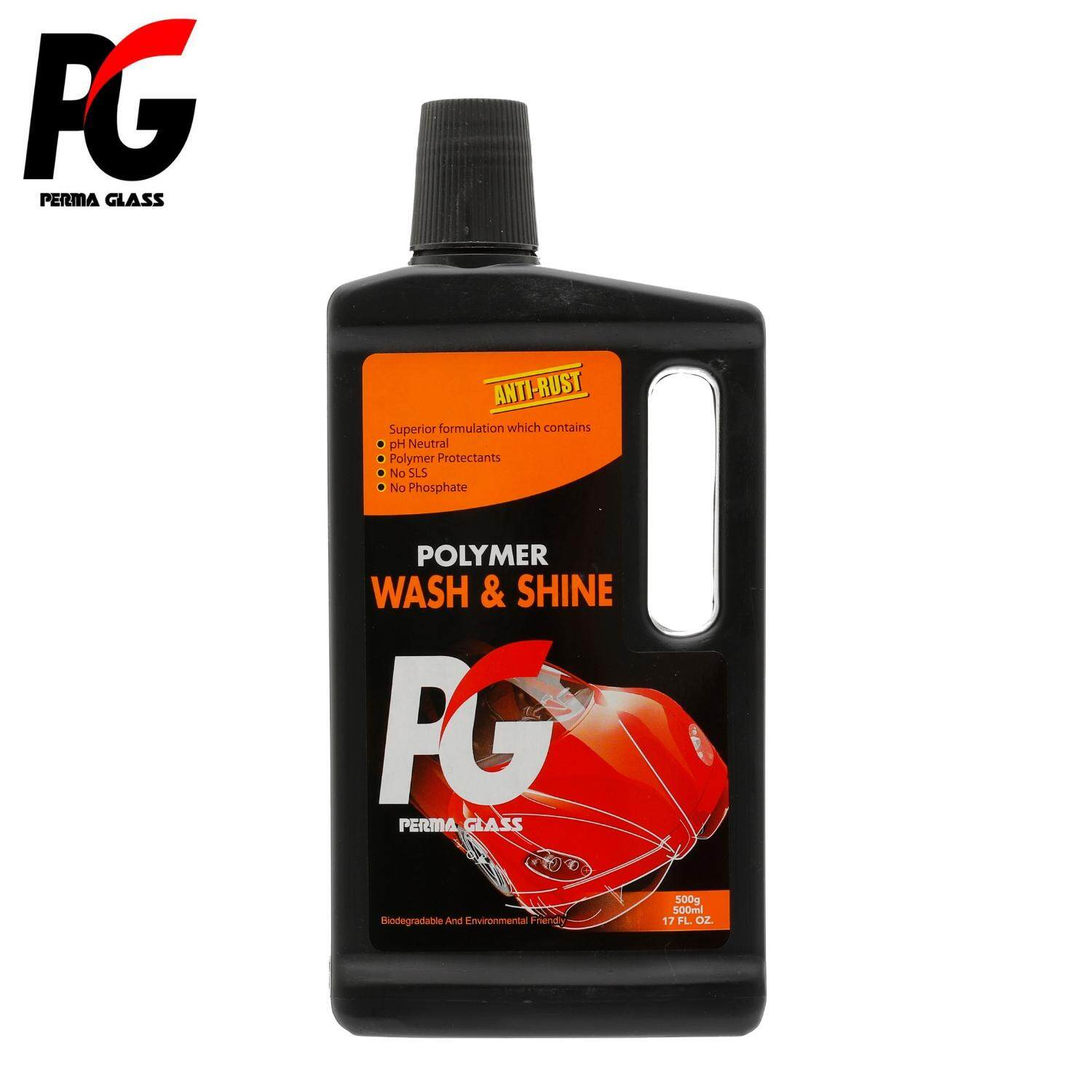 PG POLYMER WASH & SHINE (500ML) - CAR CARE EXTERIOR