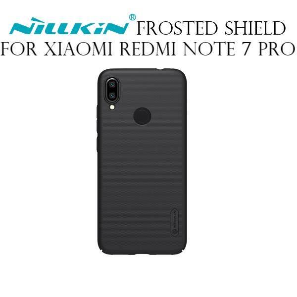Nillkin Super Frosted Shield PC Plastic Matte Back Cover Case for Xiaomi Redmi Note 7 Pro (Black/Gold)