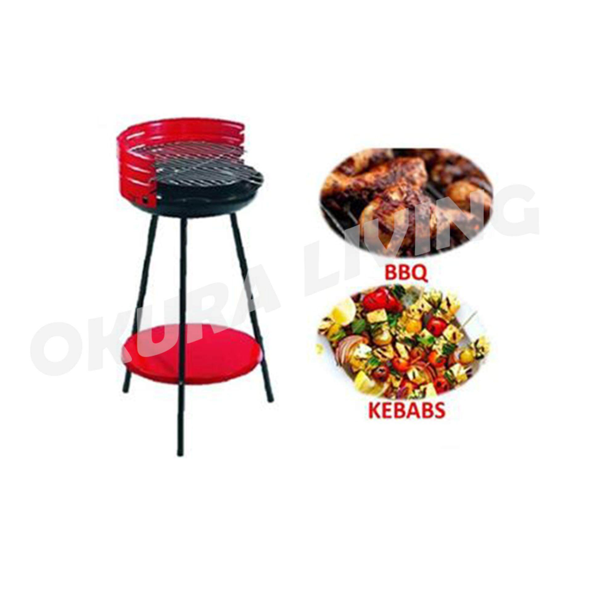 OKURA Portable Outdoor Charcoal BBQ Grill Set Barbecue