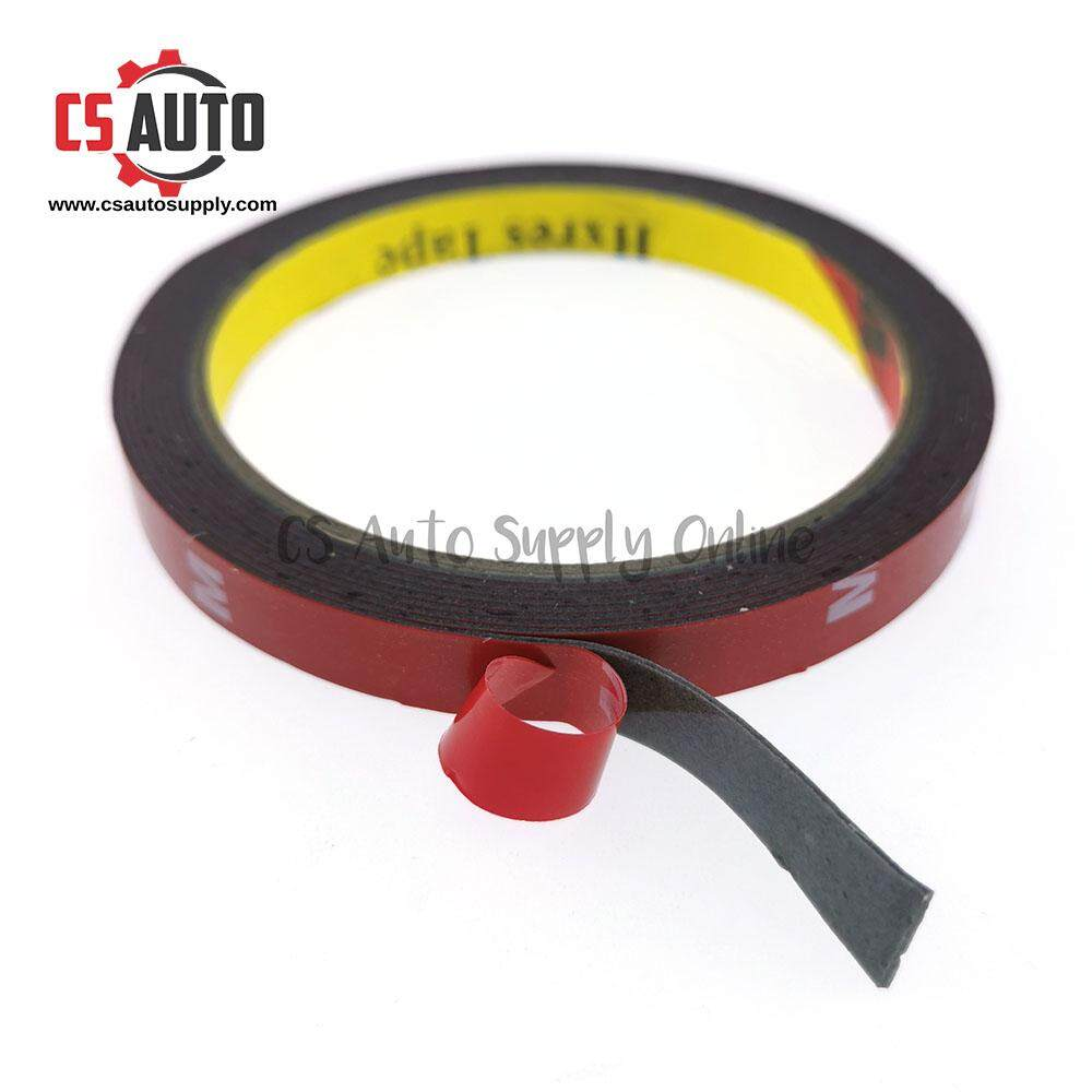 [cs auto] Double Side Tape for Car, home use 2.3m x 10mm Grey Vehicle Waterproof Double Sided Adhesive Foam Tape
