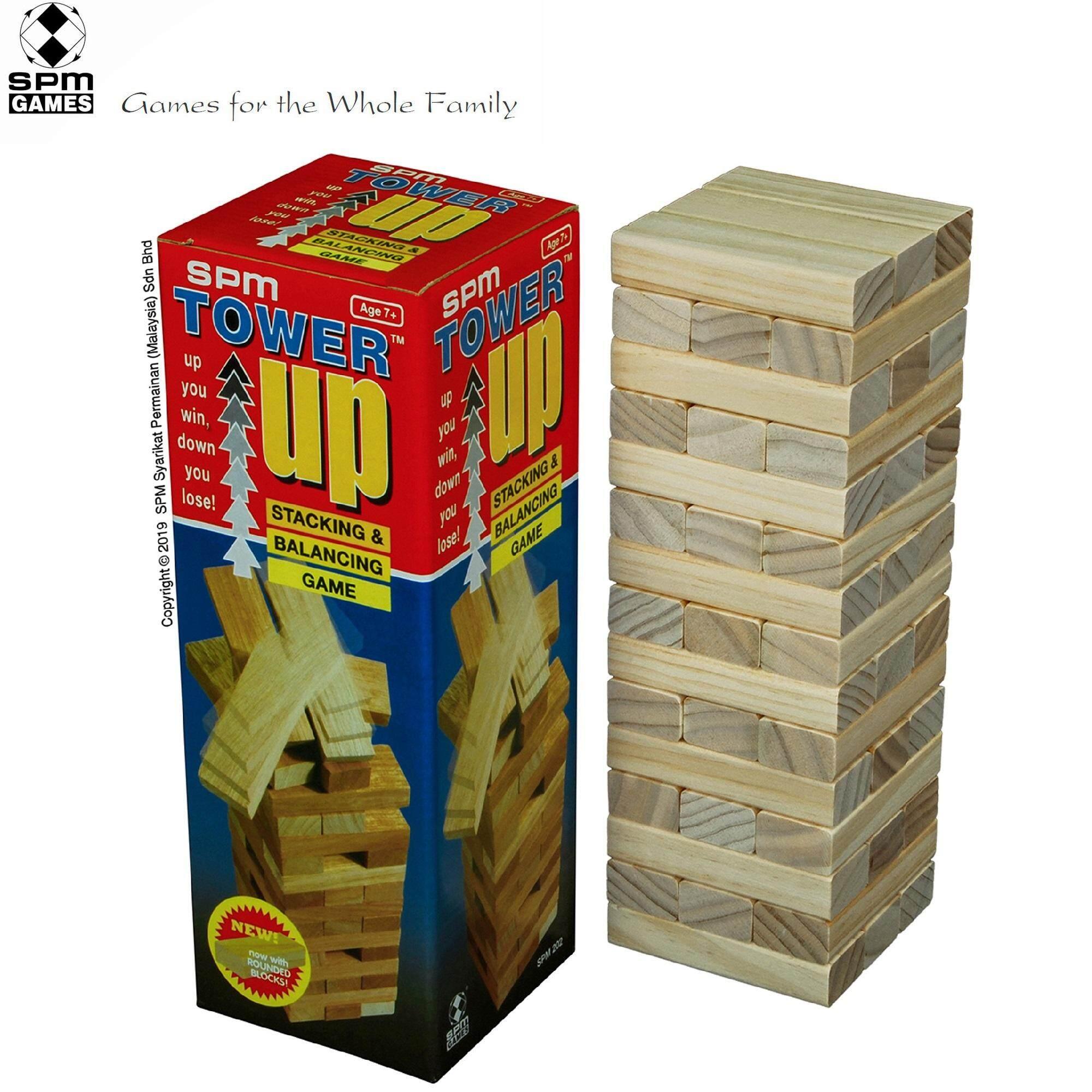 SPM Games Tower Up Wooden Blocks