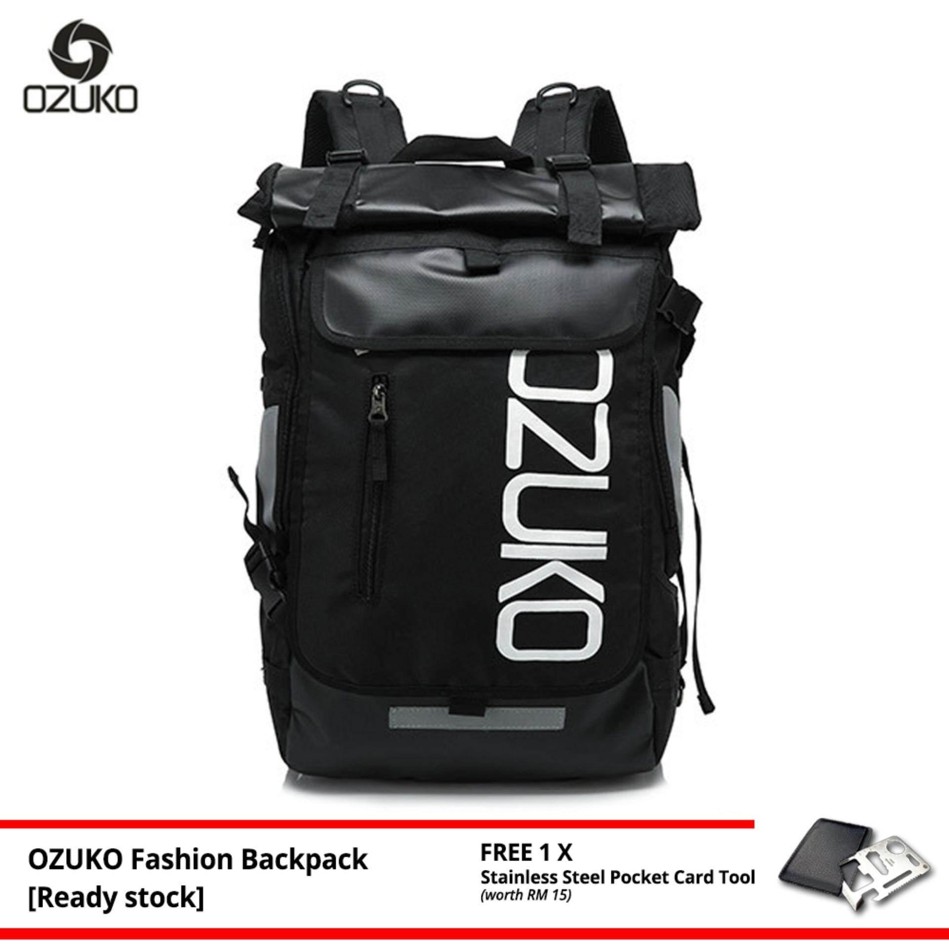 OZUKO Brand New Oxford Backpack Fashion Laptop Bag Casual Waterproof Travel Korean Style Men Women Bagpack -MI4491