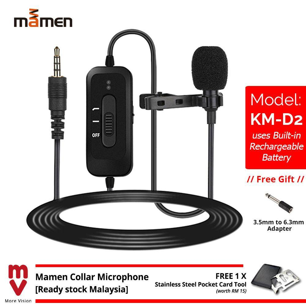 Mamen Collar Microphone Clip-on Mic 6m Cable for Smartphone Phone - KM-D2